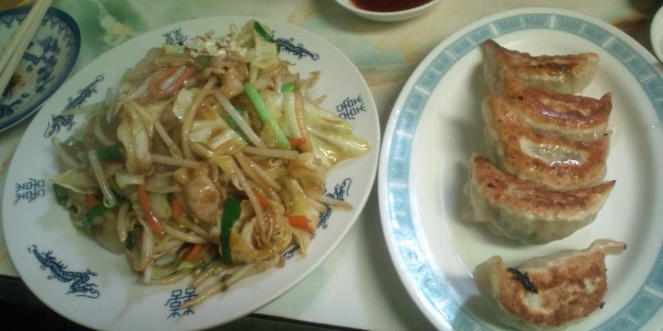 やまちゃん カレー風味野菜炒めと餃子