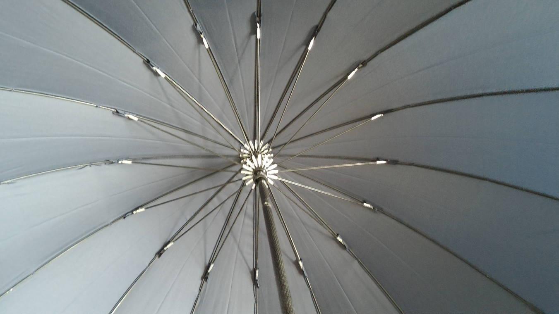 一太郎30周年記念 16本骨傘 凪(なぎ)』 傘の根本